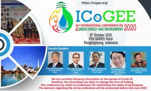 $International Conference On Green Energy And Environment 2020