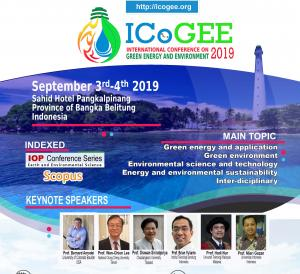 $International Conference On Green Energy And Environment 2019