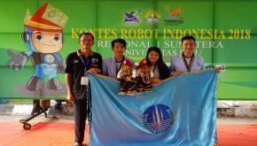 Tim Evo-Dincak UBB Gondol Juara 3 Kontes Robot Indonesia Regional 1