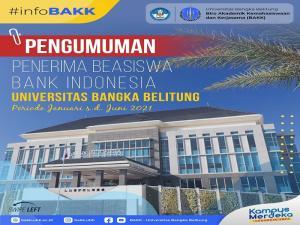 Daftar Penerima Beasiswa Bank Indonesia